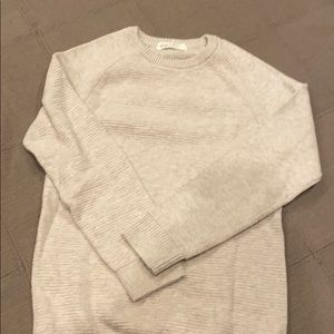 Boys lined beige sweater size 6-8Y